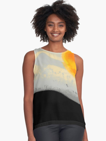 '1. Bright Sunset with Dots' Contrast Tank Top (Limited Edition)