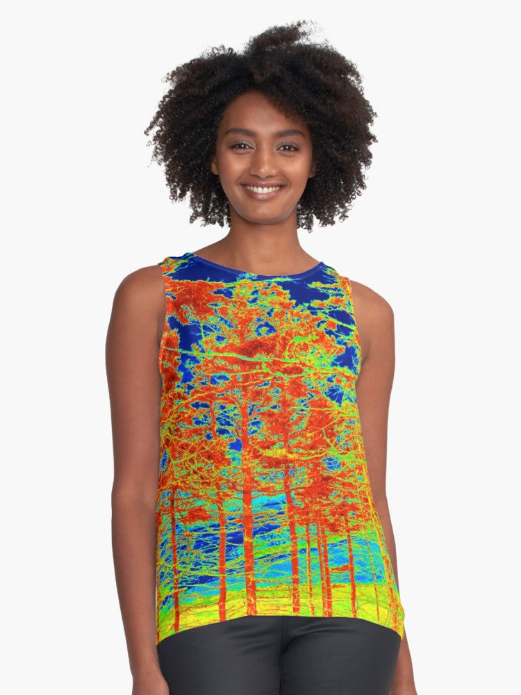 Red Trees Canada Limited Edition Sleeveless Top - Tru-Artwear.ca