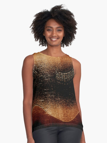 Amber* Northern Lights Limited Edition Sleeveless Top: - Tru-Artwear.ca
