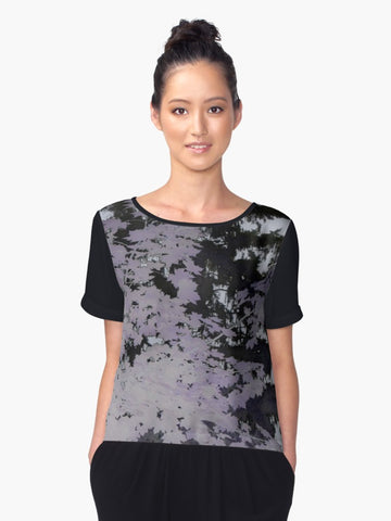 1. Chiffon Top Purple Trees Silhouette - Tru-Artwear.ca