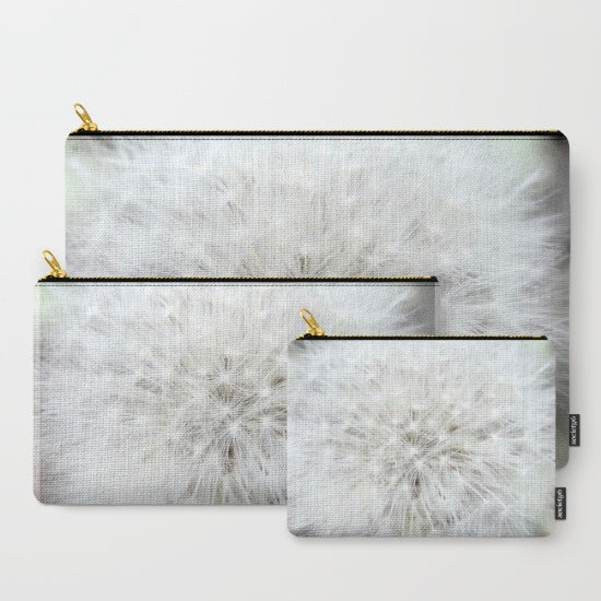 Zoom 'White Dandelion' Travel Pouch Set | Travel Accessories