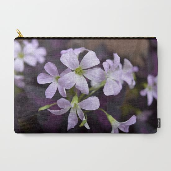 '2. Delicate Lavender Flowers' Travel Pouch Set - Tru-Artwear.ca