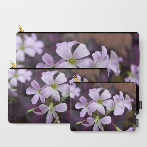 'Delicate Lavender Flowers' Travel Pouch Set - Tru-Artwear.ca