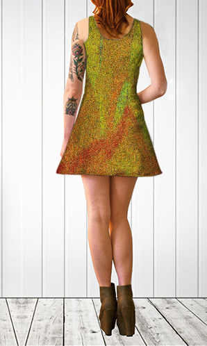 'Abstract Flower' Flare Dress - Tru-Artwear.ca