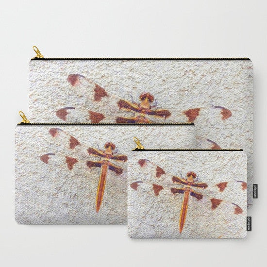 'Dragonfly on Wall' Travel Pouch Set - Tru-Artwear.ca