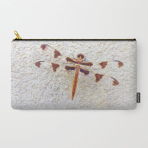 Dragonfly on Wall Makeup Bag - Tru-Artwear.ca