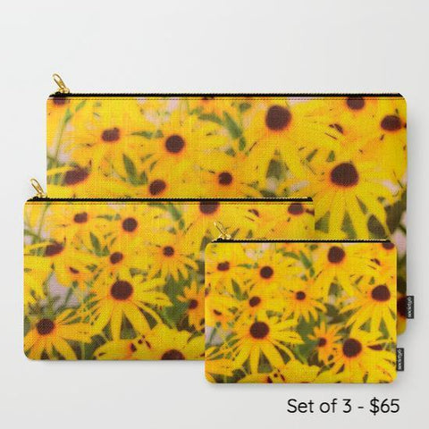 Black-Eyed Susans Travel Pouch Set - Tru-Artwear.ca