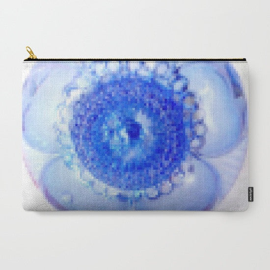 'Blue Boho Flower Pixelate' Travel Pouch Set - Tru-Artwear.ca