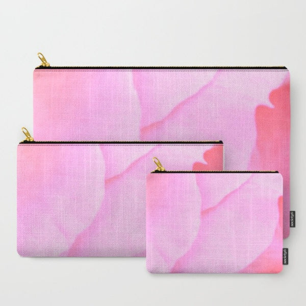'3. Pink Rose Petals' Travel Pouch Set - Tru-Artwear.ca