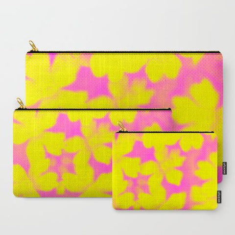 'Yellow and Pink Flowers' Travel Pouch Set - Tru-Artwear.ca