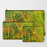 'Green Yellow Red Abstract Water' Travel Pouch Set - Tru-Artwear.ca