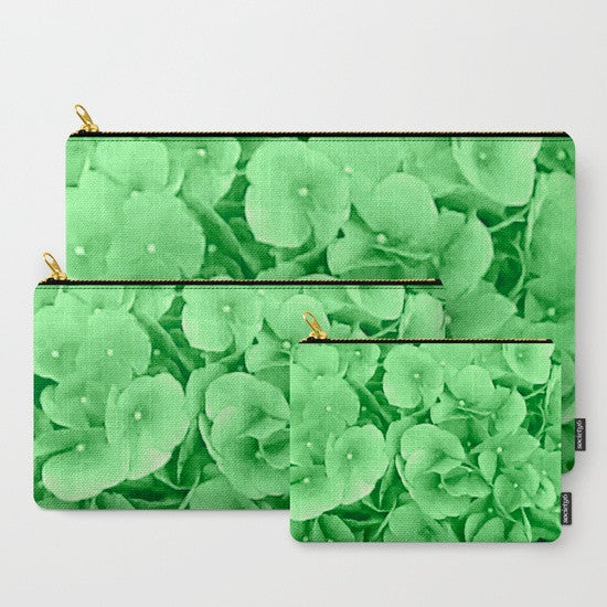 'Hydrangea Greenery' Travel Pouch Set - Tru-Artwear.ca