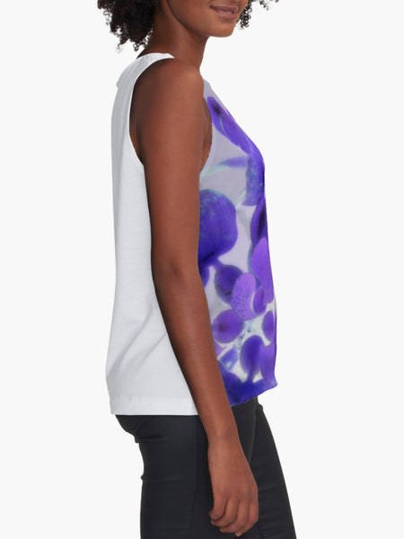 Purple Water Plant Limited Edition Sleeveless Top - Tru-Artwear.ca