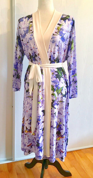 Yes Peignoirs | Purple Flox Peignoir | Lingerie Robe - Tru-Artwear.ca