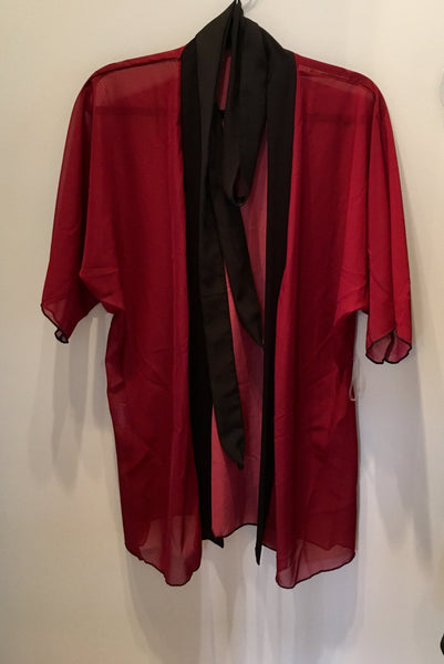 1. Rich Red Kimono Robe | Loungewear | Beachwear | Lingerie Robe - Tru-Artwear.ca