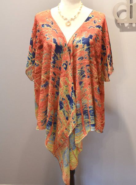 2. 'Red Trees Canada' Draped Kimono Cardigan - Tru-Artwear.ca