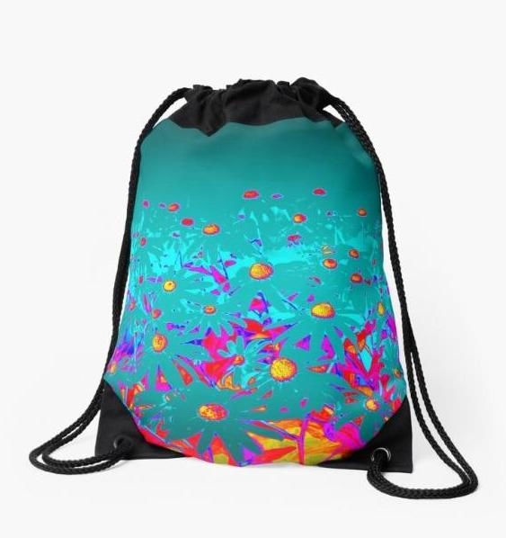 Faerie Garden Drawstring Beach Bag - Tru-Artwear.ca
