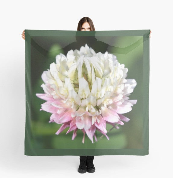 Beach Wrap | Limited Edition: 'Clover Flower' Scarf - Tru-Artwear.ca