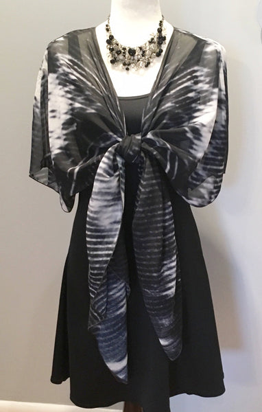 '8. BNW Feather' Draped Fashion Cardigan - Tru-Artwear.ca