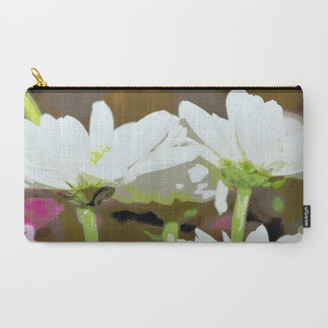 White Daisies Makeup Bag - Tru-Artwear.ca