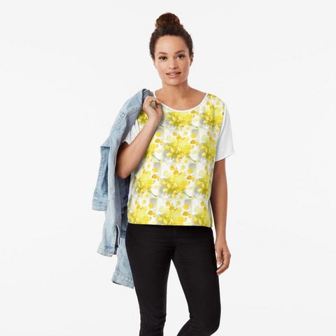 Yellow Stamen Sunshine Chiffon Top