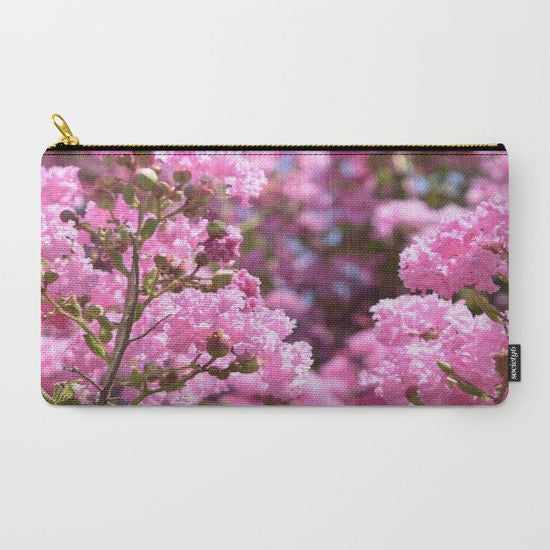 Pink Blossoms Makeup Bag - Tru-Artwear.ca