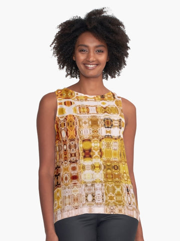 Amber Gypsy Mosaic Sleeveless Top - Tru-Artwear.ca