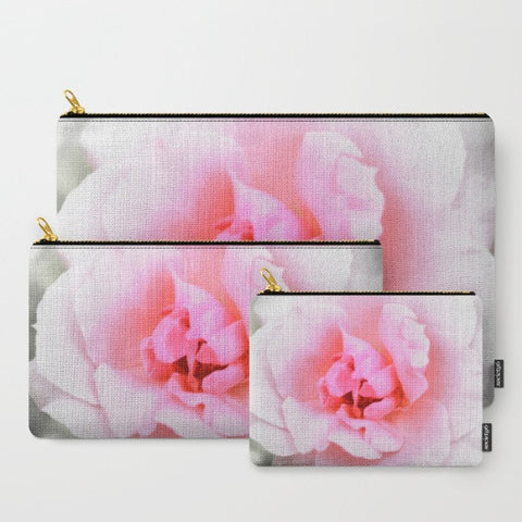 'Light Pink Rose' Travel Pouch Set - Tru-Artwear.ca