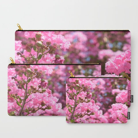 'Pink Blossoms' Travel Pouch Set - Tru-Artwear.ca