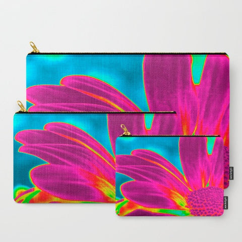 'Neon Daisy' Travel Pouch Set - Tru-Artwear.ca