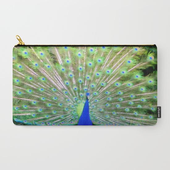 'Peacock Feathers' Travel Pouch Set - Tru-Artwear.ca