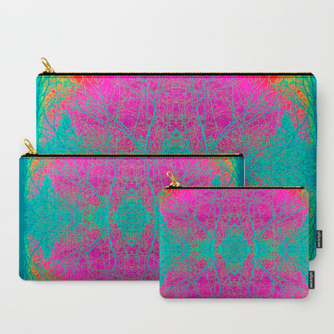 'Pink Boho' Travel Pouch Set - Tru-Artwear.ca