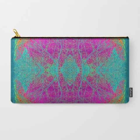 Pink Boho Makeup Bag - Tru-Artwear.ca