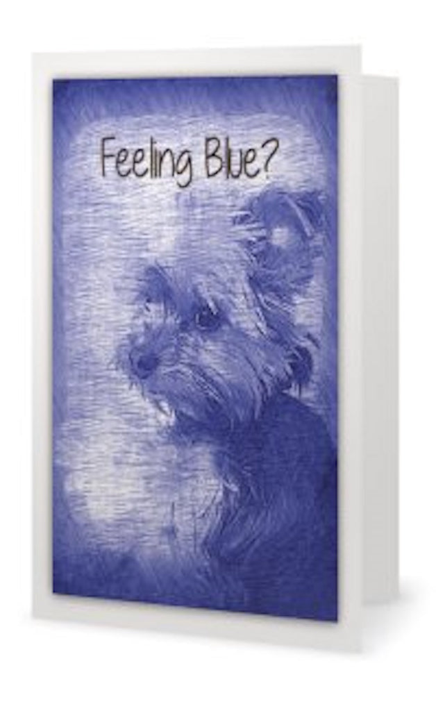 GC- 'Feeling Blue?' Greeting Card - Tru-Artwear.ca
