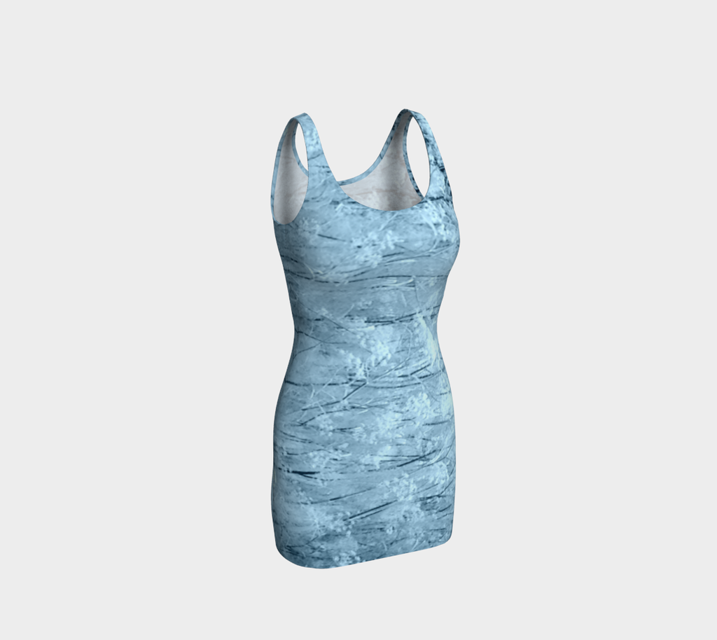 Blue Frost Fitted Dress - Tru-Artwear.ca