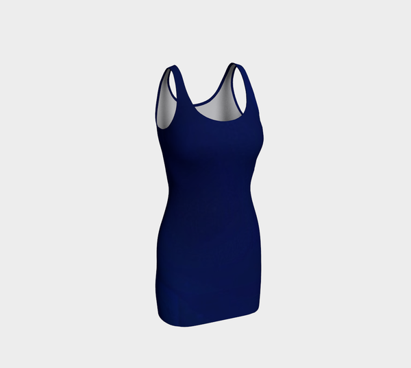 Navy Fitted Dress - Tru-Artwear.ca