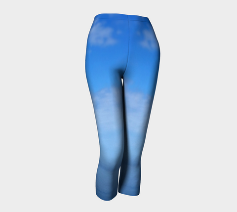 Where Water Meets Sky Capris - Tru-Artwear.ca