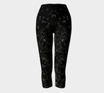 Flowers at Midnight Capris - Tru-Artwear.ca