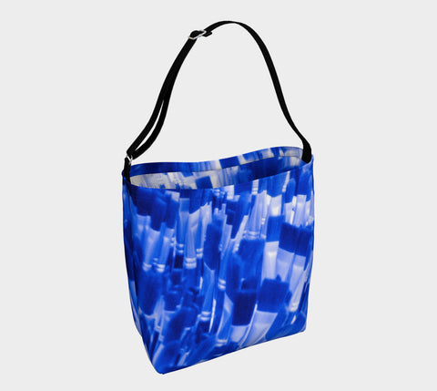 Blue Paint Brushes Neoprene Stretch Tote - Tru-Artwear.ca