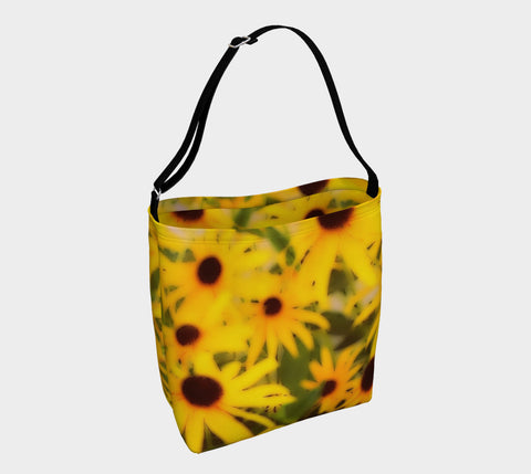 Black-Eyed Susan Stretch Neoprene Beach & Day Tote - Tru-Artwear.ca