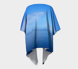 'Where Water Meets Sky' Draped Kimono Cardigan - Tru-Artwear.ca