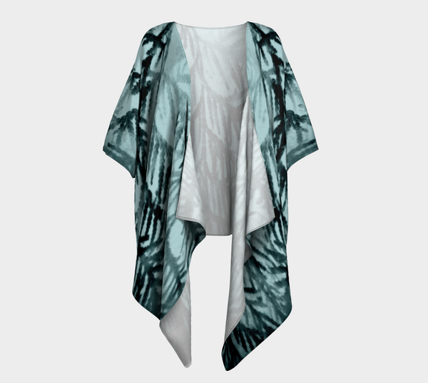'Just Beyond the Trees' Draped Fashion Cardigan - Tru-Artwear.ca