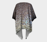 Water No.1 (Textile Series) Draped Fashion Cardigan - Tru-Artwear.ca