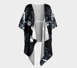 'BNW Feather' Draped Kimono Cardigan - Tru-Artwear.ca