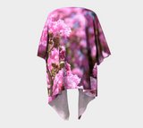 Pink Blossoms Draped Fashion Cardigan - Tru-Artwear.ca