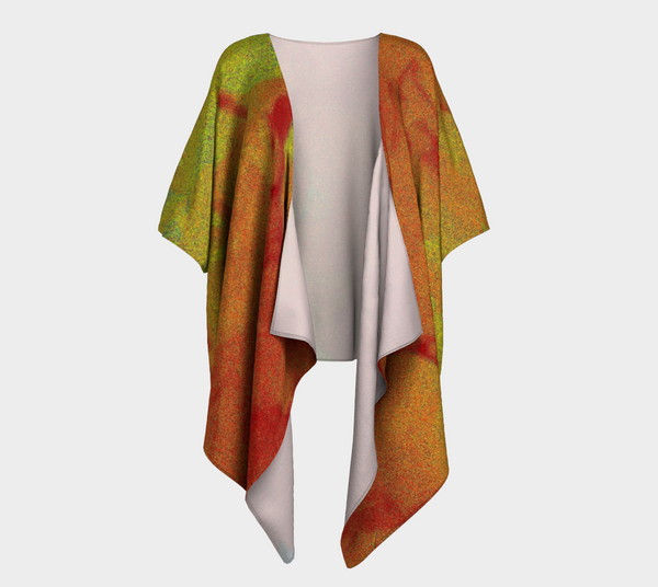 Abstract Flower Draped Kimono Cardigan - Tru-Artwear.ca