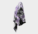 BNW Purple Hydrangea Draped Fashion Cardigan - Tru-Artwear.ca