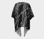 Black Grasses Draped Kimono Cardigan - Tru-Artwear.ca