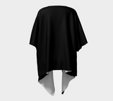 Solid Black Draped Fashion Cardigan - Tru-Artwear.ca