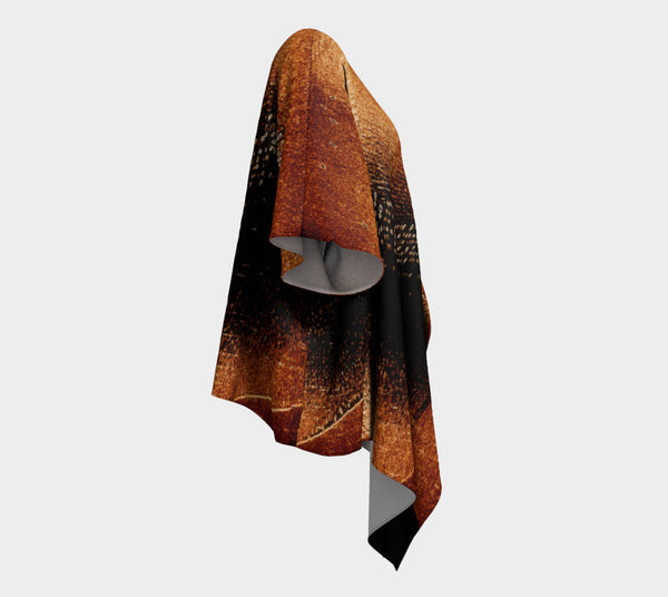 Amber Northern Lights Draped Kimono Cardigan - Tru-Artwear.ca